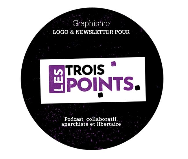 Création d'un logo et d'une ambiance graphique pour le podcast collaboratif Les Trois Points